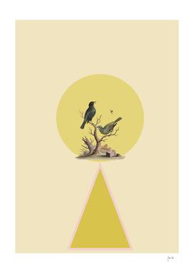 Bird in yellow circle