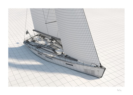 Wireframe Sailboat