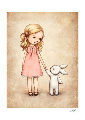 girl with bunny