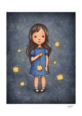 girl with star