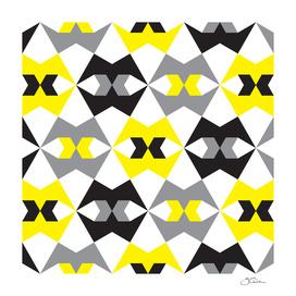 Yellow, gray & black geometric pattern