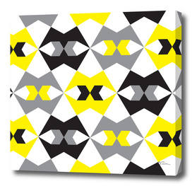 Yellow, gray & black geometric pattern