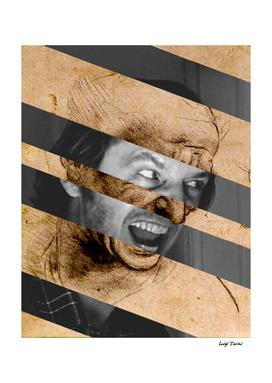 """Leonardo da Vinci's """"Head of Man"""" & Jack Nicholson"""
