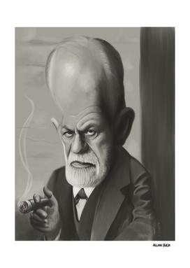 Sigmund Freud Caricature