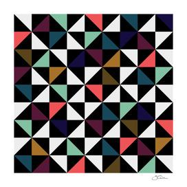 Triangle pattern (black, brown, salmon & mint)