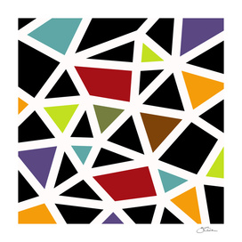 Black Lines & colors pattern #1