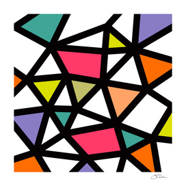 Black Lines & colors pattern #2
