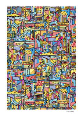 Slum urban