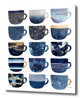 Pretty Blue Coffee Cups