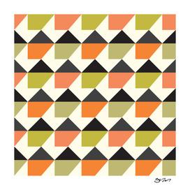 Orange & lime geometric pattern