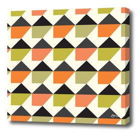 Orange & lime geometric pattern