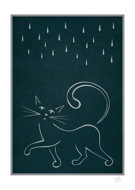 Cat & Rain
