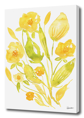 Watercolor Floral Composition nr 3