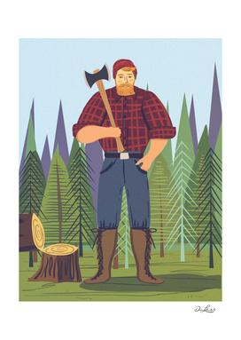 Paul Bunyan  In The Woods