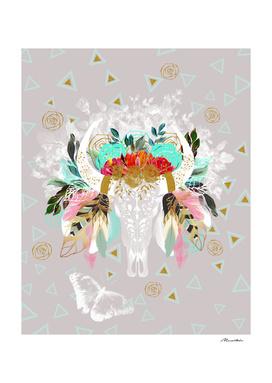 Fantasy boho skull