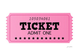 New ticket available : pink black