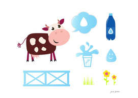 Cow with accesories : in Shop