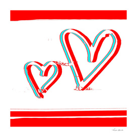 TWO HEARTS TOGETHER  RED