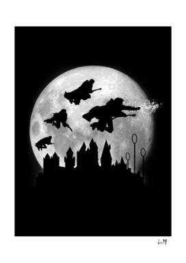 Full moon over Hogwarts