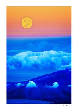 Sun Sky Clouds and Field