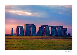 Sunset Colors at Stonehenge