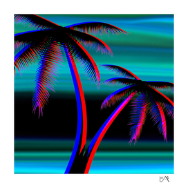 PALM TREES TURQUOISE