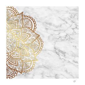 Mandala - Gold & Marble