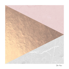 Geo tri - rose gold & concrete