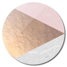 Geo tri - rose gold & concrete