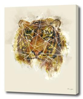 Geo Tiger Watercolor