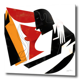 The Kiss II in Black Red and Orange