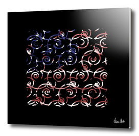 Abstract Forms | spiral USA banner no. 1