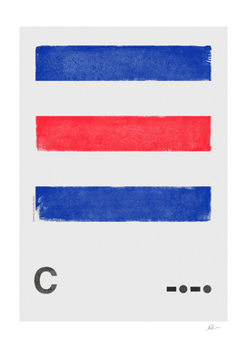 International Maritime Signal Flag Alphabet - C