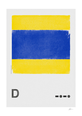 International Maritime Signal Flag Alphabet - D