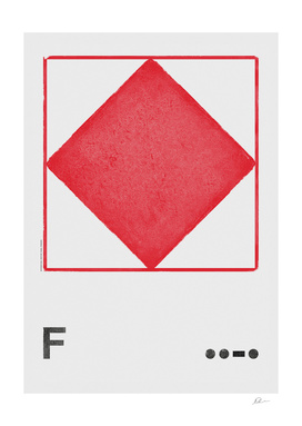 International Maritime Signal Flag Alphabet - F