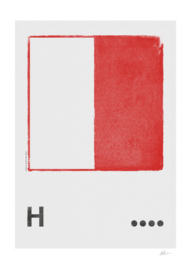 International Maritime Signal Flag Alphabet - H