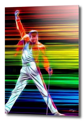 Freddie Mercury in Color