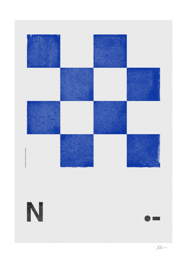 International Maritime Signal Flag Alphabet - N