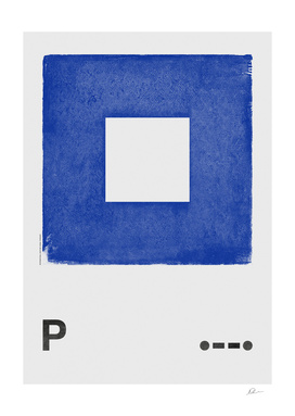 International Maritime Signal Flag Alphabet - P