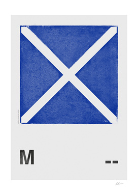 International Maritime Signal Flag Alphabet - M