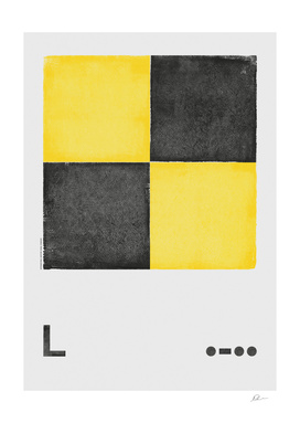 International Maritime Signal Flag Alphabet - L