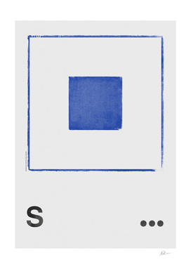 International Maritime Signal Flag Alphabet - S