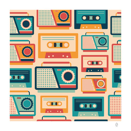Retro Tape Recorders and Cassettes