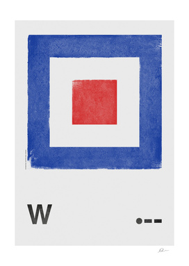International Maritime Signal Flag Alphabet - W