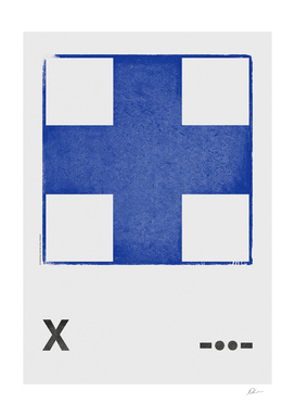 International Maritime Signal Flag Alphabet - X