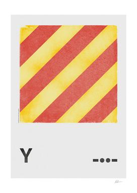 International Maritime Signal Flag Alphabet - Y