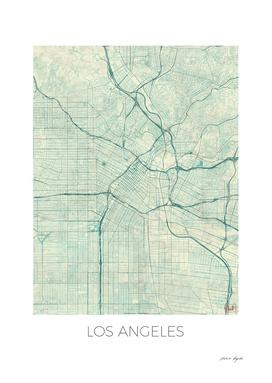 Los Angeles Map Blue