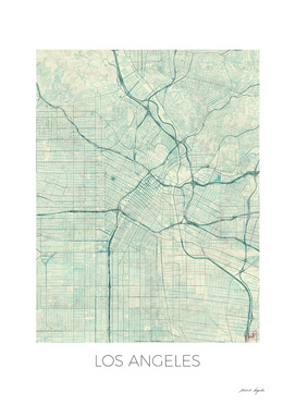Los Angeles Map Blue