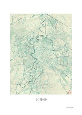 Rome Map Blue