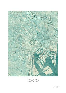 Tokyo map blue